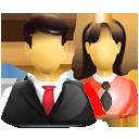 male & female chinese language students - icon