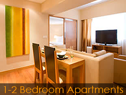 1 to 2-bed apartment in Hong Kong - example 1