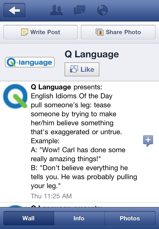 Visit Q Language on Facebook