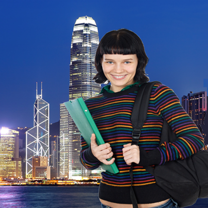 student, studying abroad in Hong Kong