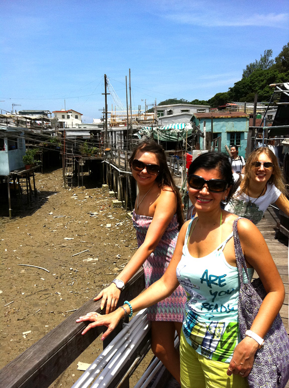 Tai O Fishing Village- English students studying abroad in Hong Kong