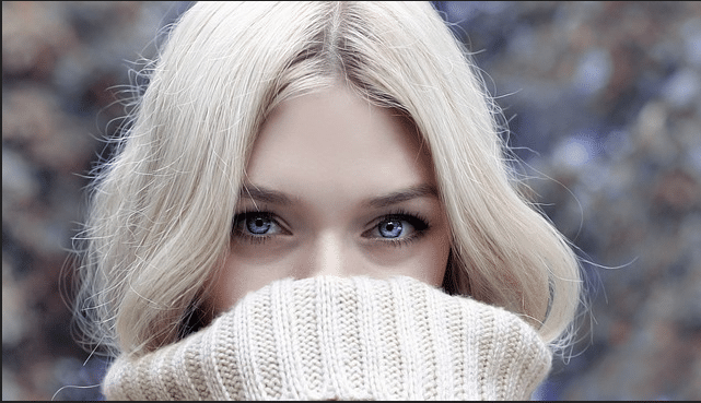 blonde haired girl with blue eyes