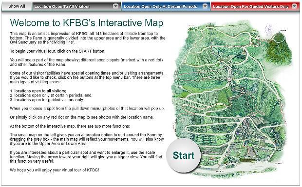 Interactive Map of Kadoorie Farm in Hong Kong