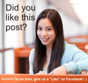 Asian girl asking for FB like.