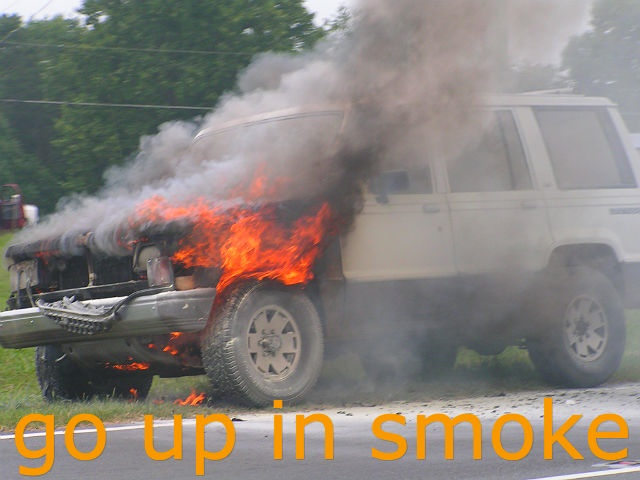 go up in smoke