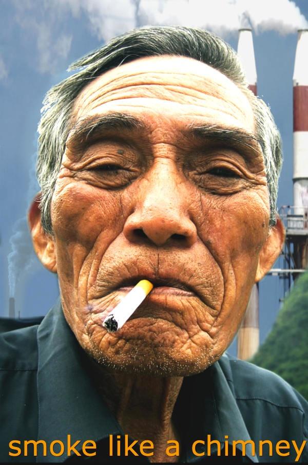 smoke like a chimney