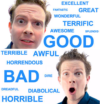 synonyms for good and bad