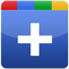 blue Google plus icon