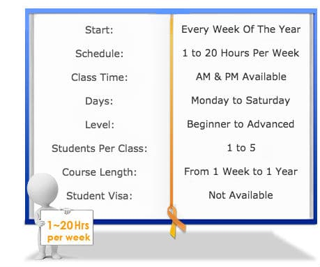 Korean Courses class schedule