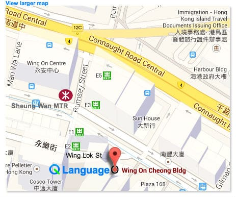 Q Language location map