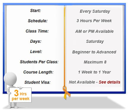 Weekend Chinese Class Schedule