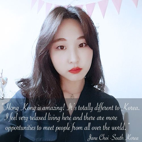 English language student, Jane, from South Korea